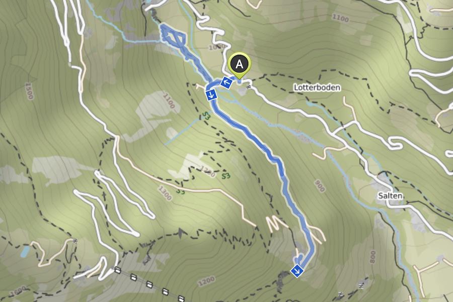 A Tasty Hike - Dursterhof und Partschinser Wasserfall Suedtirol - Wanderkarte