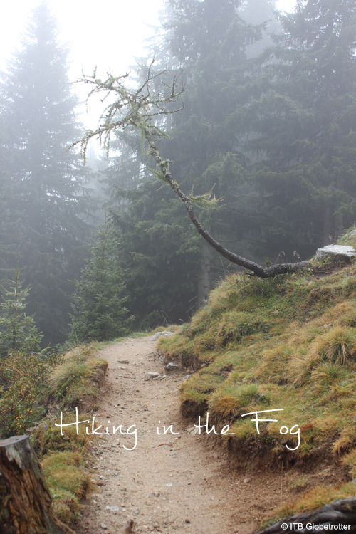 Hiking in the Fog on Meran 2000 in South Tyrol