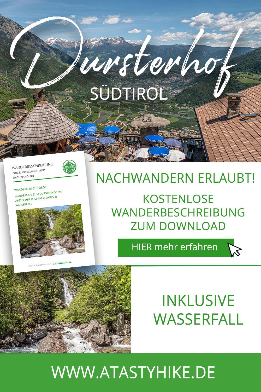 Wasserfälle, Himbeeren und Brotzeit beim Dursterhof in Südtirol