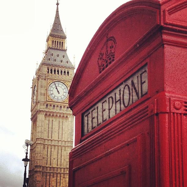 London Big Ben and Telephone Box