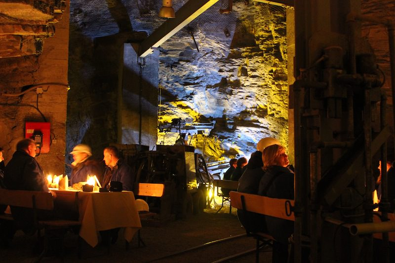 Dinner Underground at Metal Mine Ramsbeck, Germany