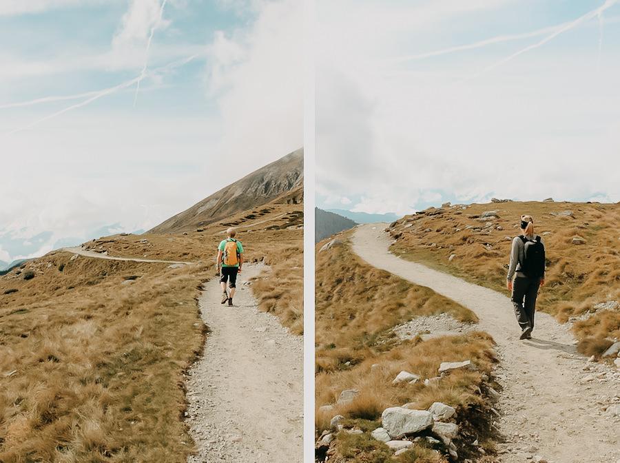 A Tasty Hike - Wanderung Missensteiner Joch - Meran 2000 - Rueckweg