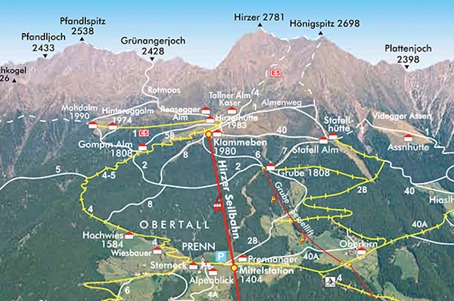 Hirzer Südtirol - Wanderkarte