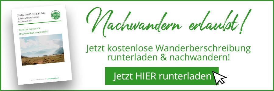 Hirzer Wanderung - A Tasty Hike - Suedtirol - Wanderbeschreibung Banner