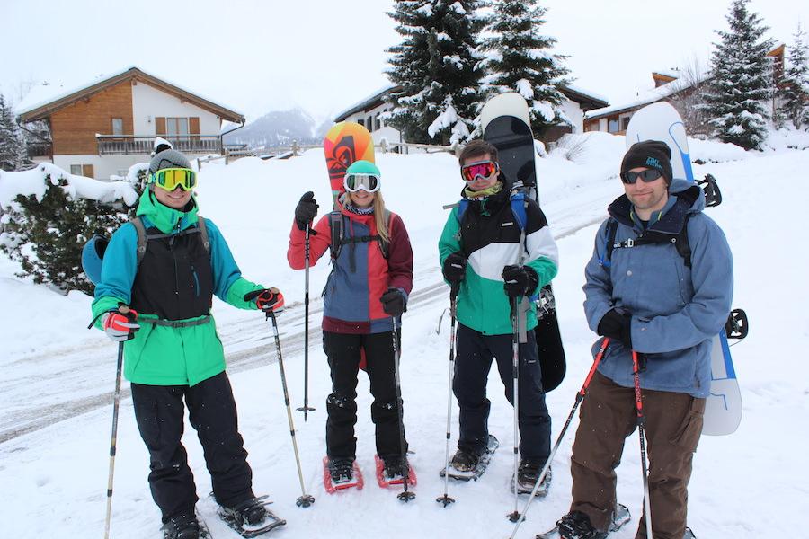 Schneeschuhwandern in den Schweizer Alpen - Gruppe