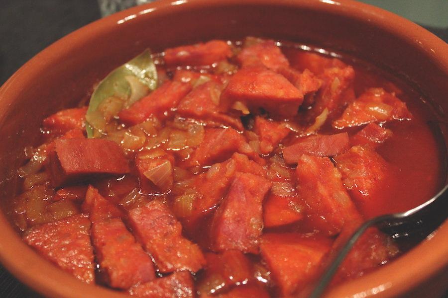 Spanische Tapas Chorizo