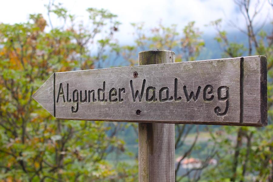 Waalwege Südtirol - Algunder Waalweg