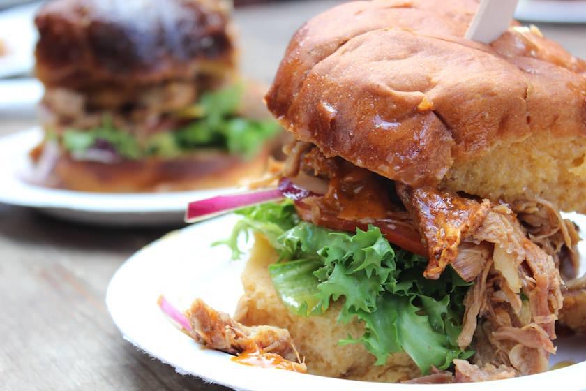 Essen in London - Pulled Pork Burger - Maltby Street Market