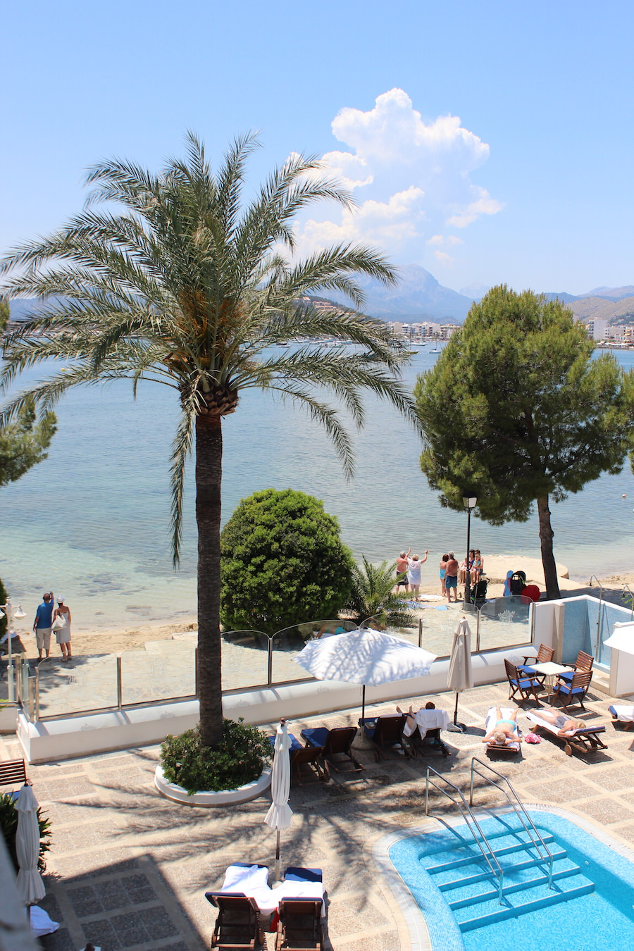 Port de Pollença - Mallorca - Hotel Illa d'Or - Blick vom Zimmer