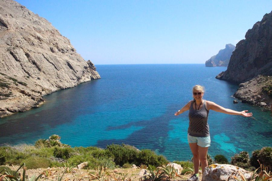 Wanderung Cala Bóquer Mallorca - Ausblick auf Bucht