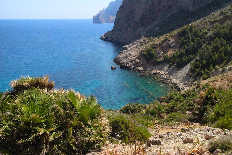 Wanderung Cala Bóquer Mallorca - Blick auf Bucht
