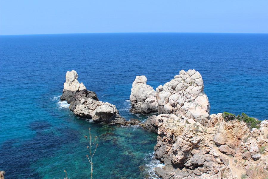 Mallorca Wanderung Cala Deià - Kalkfelsen