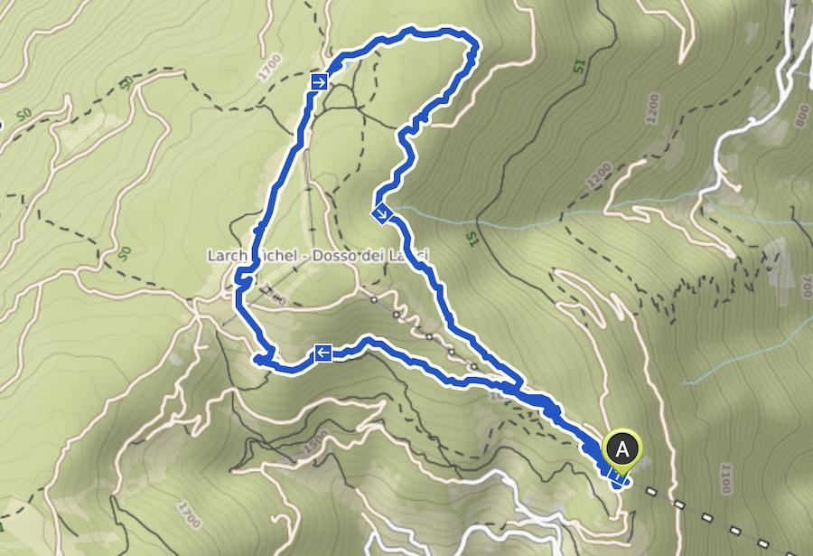 Vigiljoch wandern - Suedtirol - A Tasty Hike - Wanderkarte