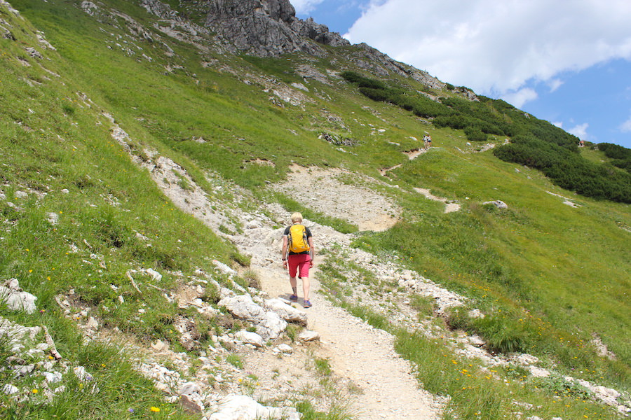 Vom Neunerköpfle zur Sulzspitze in Tirol - Anstieg