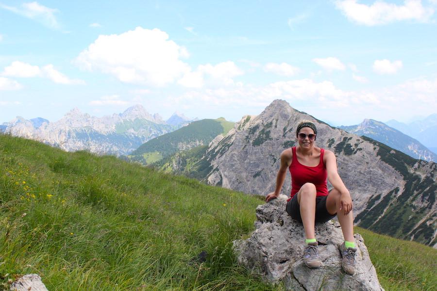 Vom Neunerköpfle zur Sulzspitze in Tirol - Pause