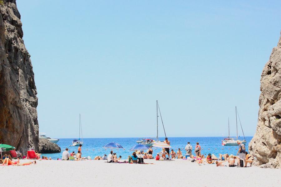 Wanderung Torrent de Pareis - Mallorca - Abkühlung Cala Sa Calobra