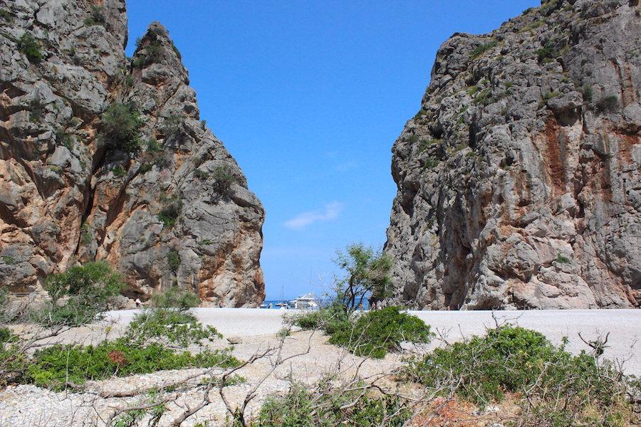 Wanderung Torrent de Pareis - Mallorca - Blick Cala Sa Calobra