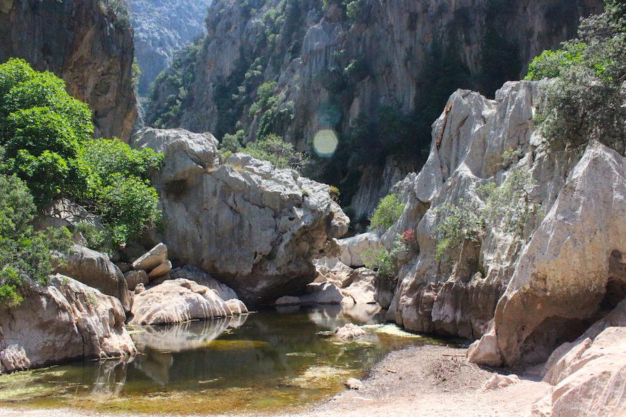 Wanderung Torrent de Pareis - Mallorca - Erste Barriere