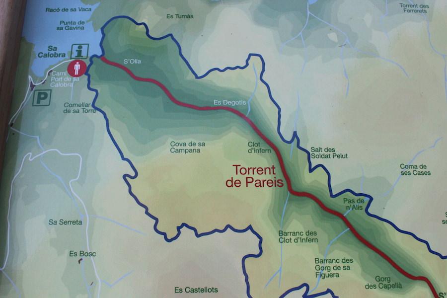Wanderung Torrent de Pareis - Mallorca - Karte