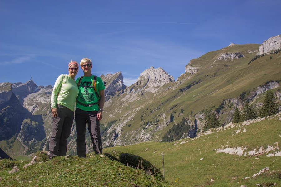 Wandern in den Schweizer Alpen - Ausblick