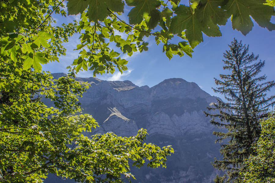 Wandern in den Schweizer Alpen - Sicht