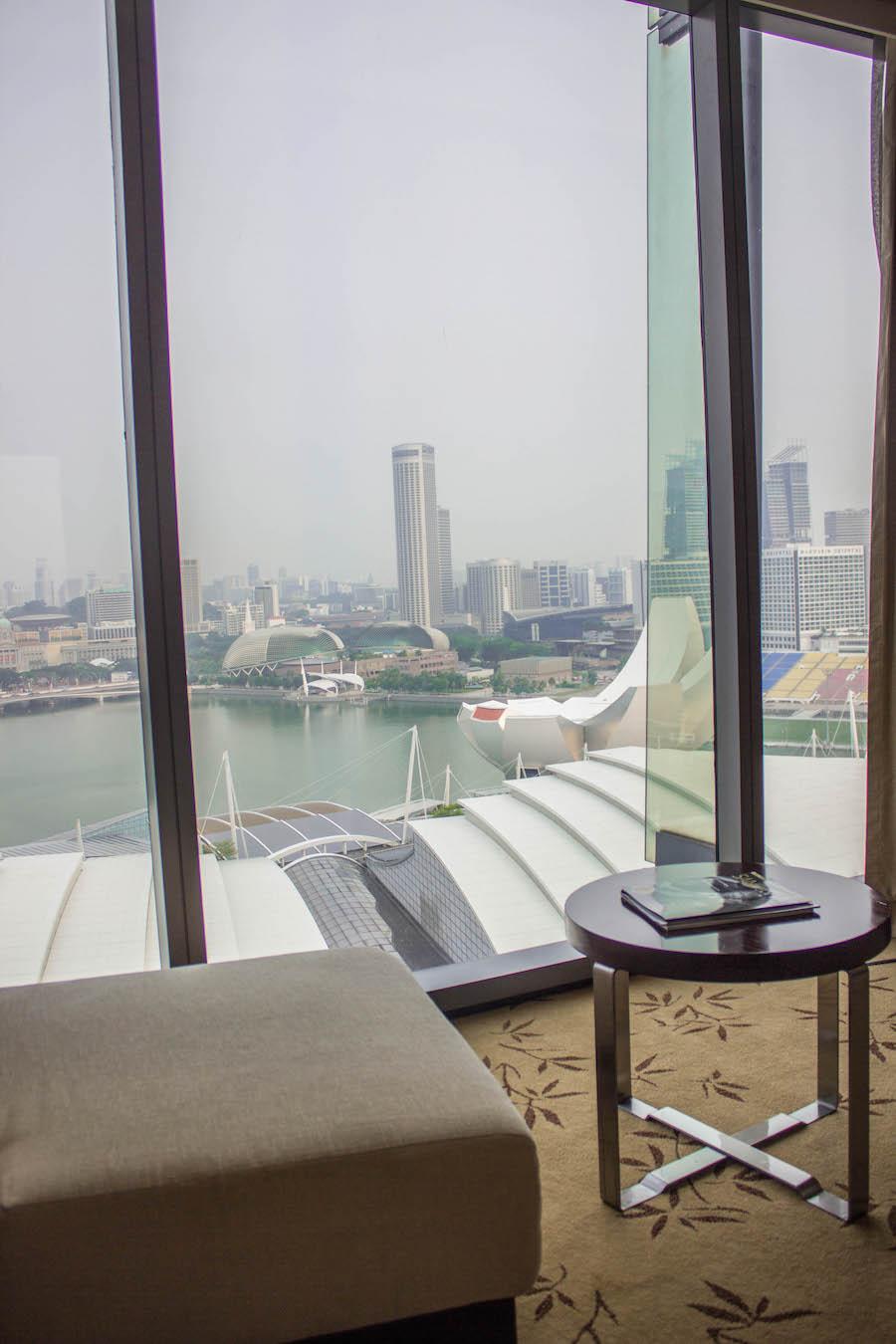 Marina Bay Sands Hotel Singapur Aussicht am Tag