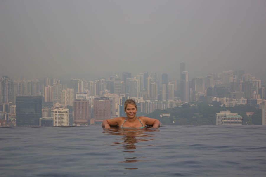 Marina Bay Sands Hotel Singapur Infinity Pool Jana