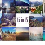 15 in 15 – unser Reise- und Wanderjahr in Instagram Bildern