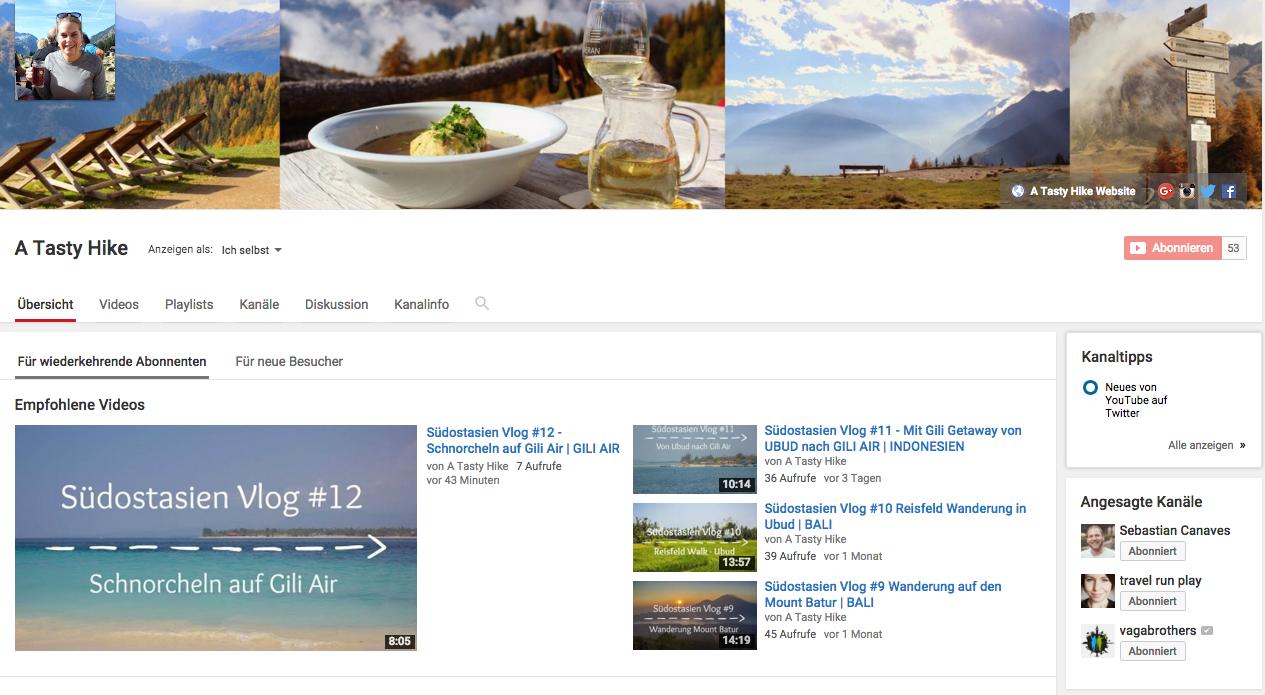 A Tasty Hike YouTube Kanal