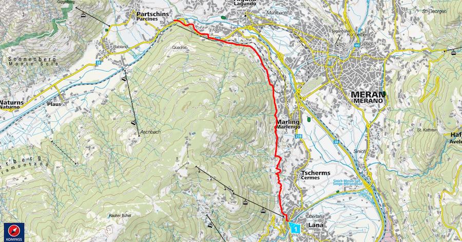 Marlinger Waalweg - Karte