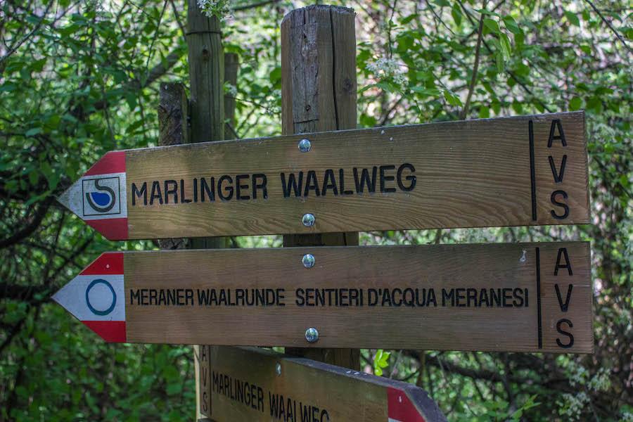 Suedtirol - Marlinger Waalweg - Schild
