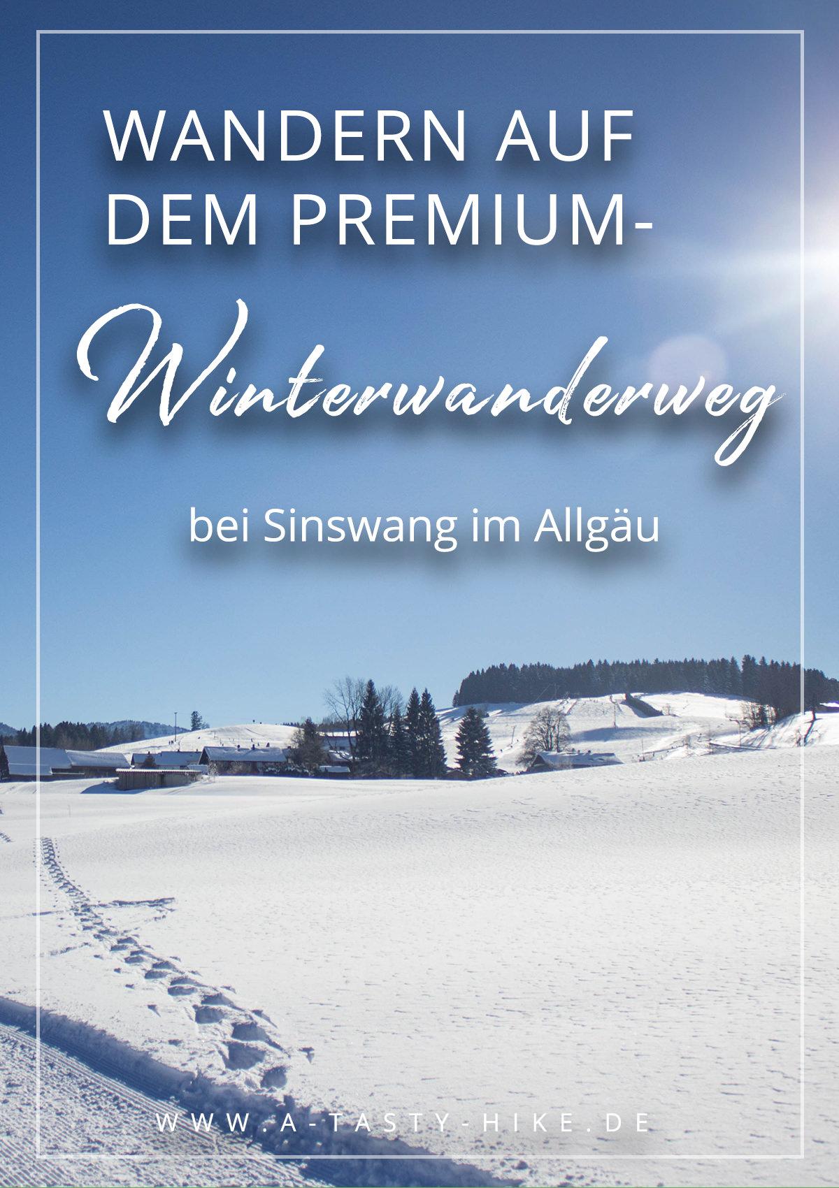 Allgäu Wandern: Winterwandern auf dem Premium-Winterwanderweg bei Sinswang im Allgäu. Super gemütliche Rundwanderung mit toller Aussicht auf die Nagelfluhkette bei Oberstaufen. #Wandern #Winterwandern #Allgäu #Wanderung