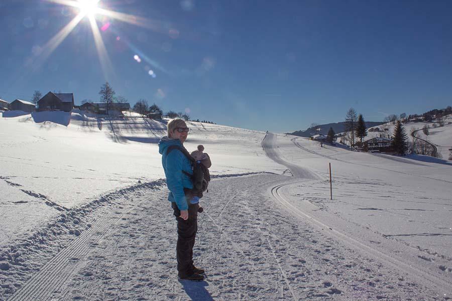 Winterwandern Allgäu - Premium Winterwanderweg Sinswang im Allgaeu - Christian