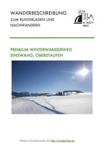 Premium Winterwanderweg Sinswang im Allgaeu - Wanderbeschreibung zum Runterladen