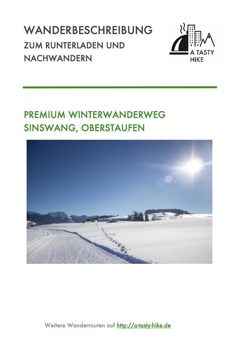 Winterwandern Allgäu - Premium Winterwanderweg Sinswang im Allgaeu - Wanderbeschreibung zum Runterladen
