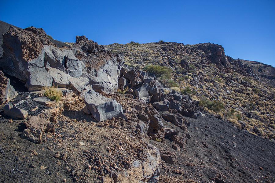 Wanderung Teneriffa - Hochebene - El Teide - Lavagestein