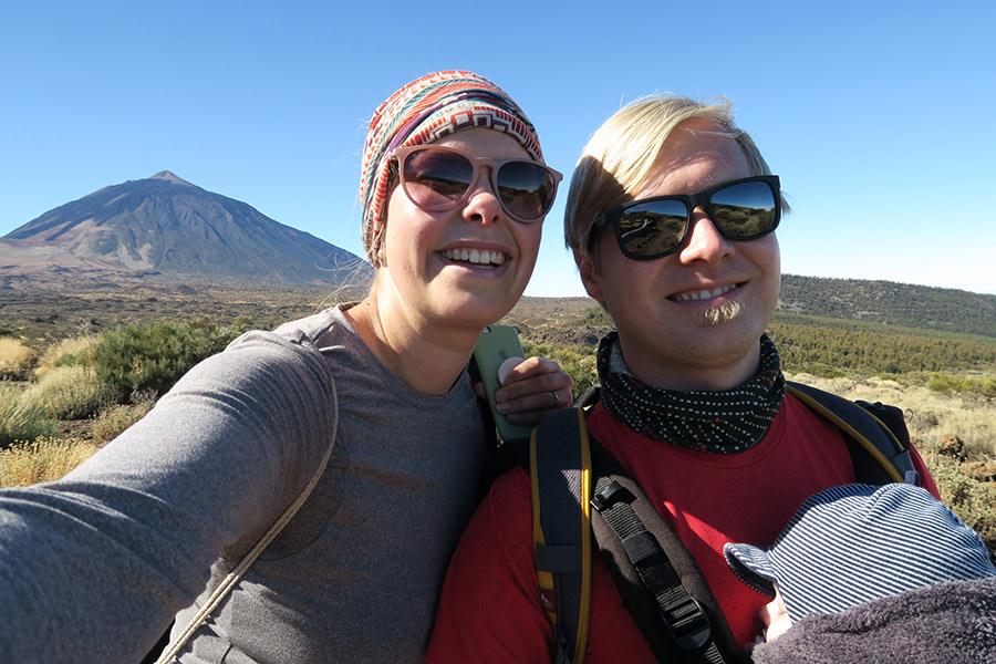 Wanderung Teneriffa - Hochebene - El Teide - Selfie
