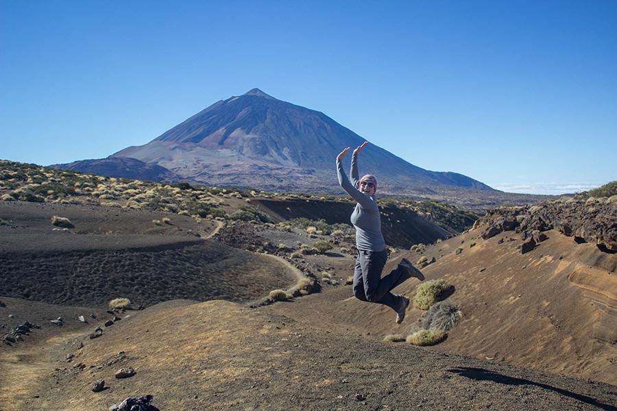 Wanderung Teneriffa - Hochebene - El Teide - Springen