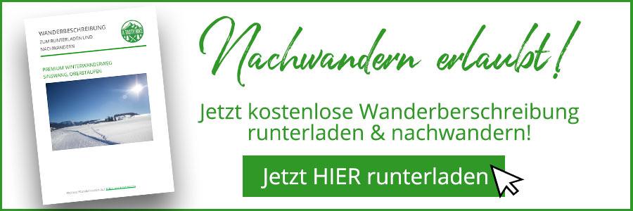 Winterwanderweg Sinswang Wanderbeschreibung Banner
