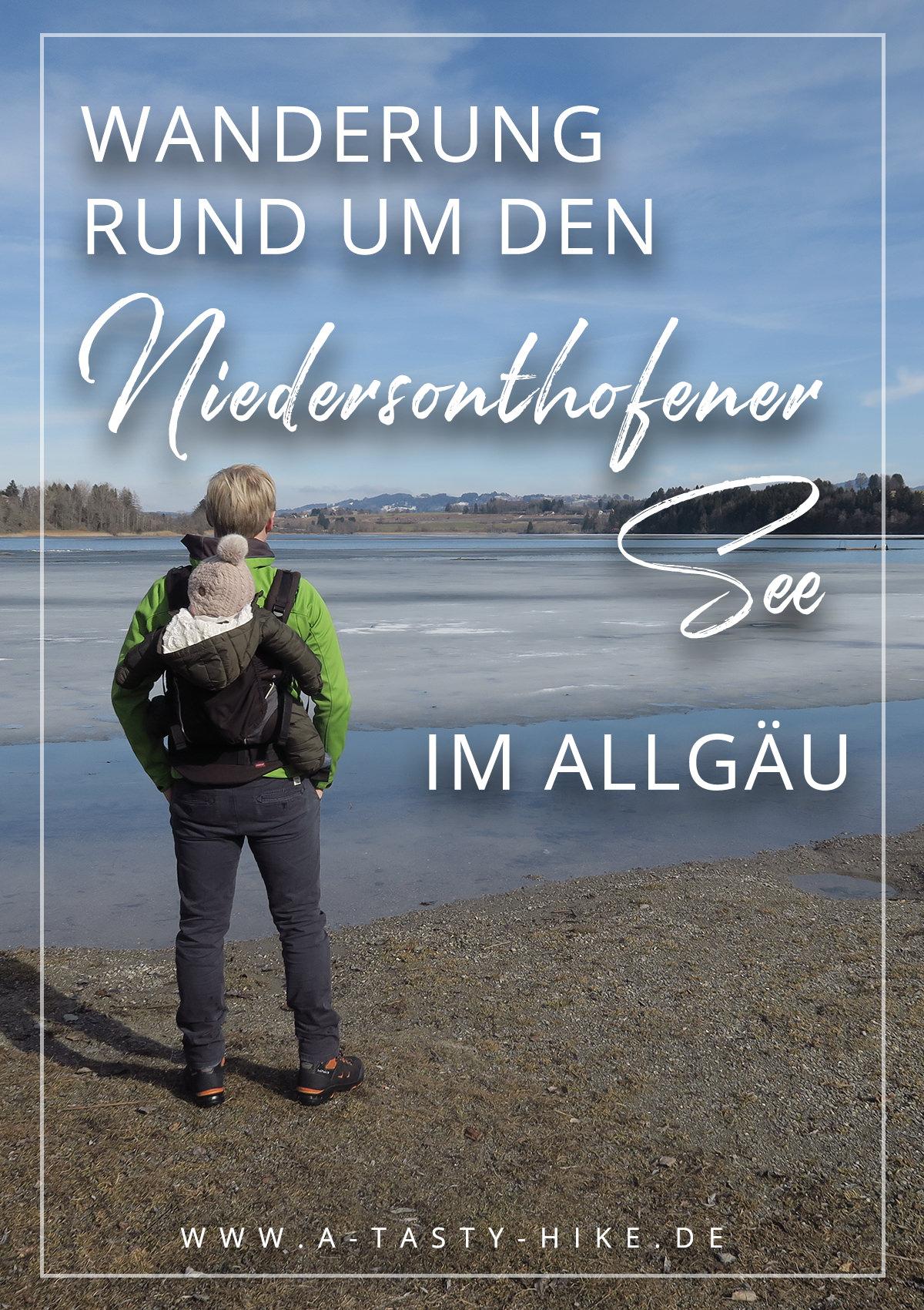 Allgäu Wandern: Gemütliche Wanderung rund um den Niedersonthofener See im Allgäu. Ideale Tour für Wanderanfänger. So gut wie keine Höhenmeter aber eine tolle Aussicht. Wandern am Wasser kann so schön sein! #Wandern #Wanderung #Allgäu