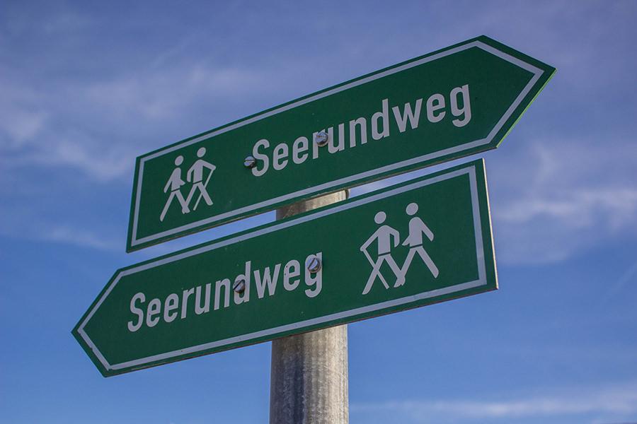 Wanderung Niedersonthofener See - Schild Seerundweg