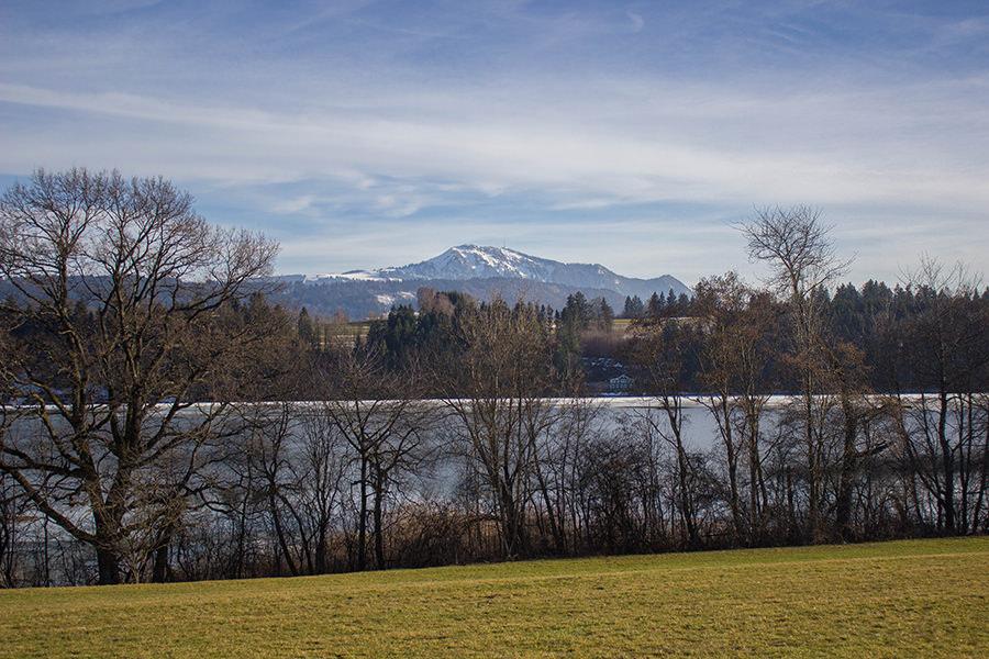 Wanderung Niedersonthofener See - See mit Bergpanorama