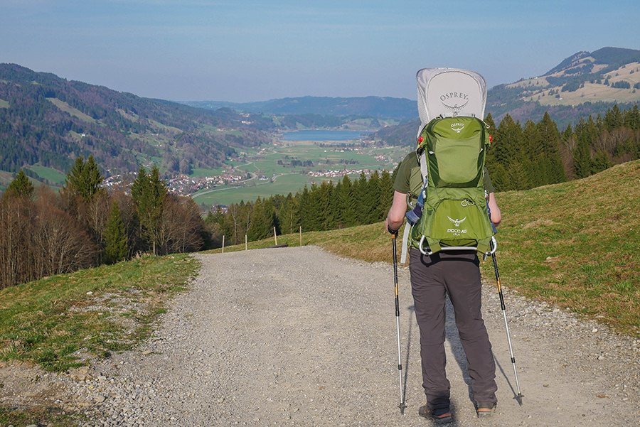 Wandern am Huendle - Ausblick Alpsee
