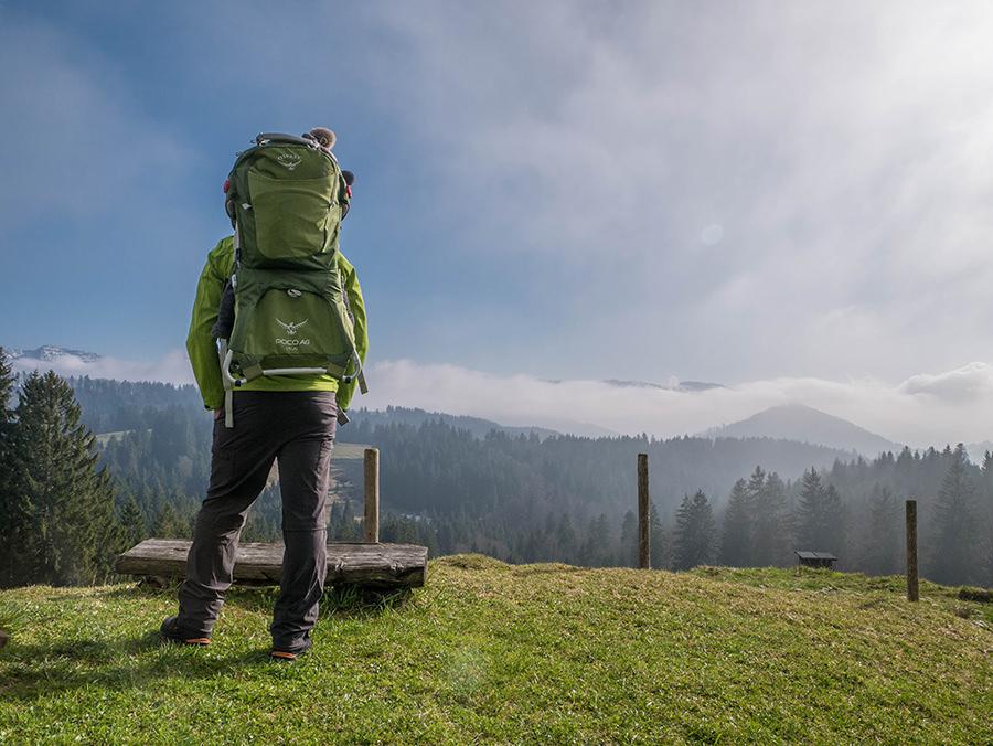 Wandern in Oberstaufen - Wanderung Kalzhofener Hoehe - Kraxe mit Aussicht