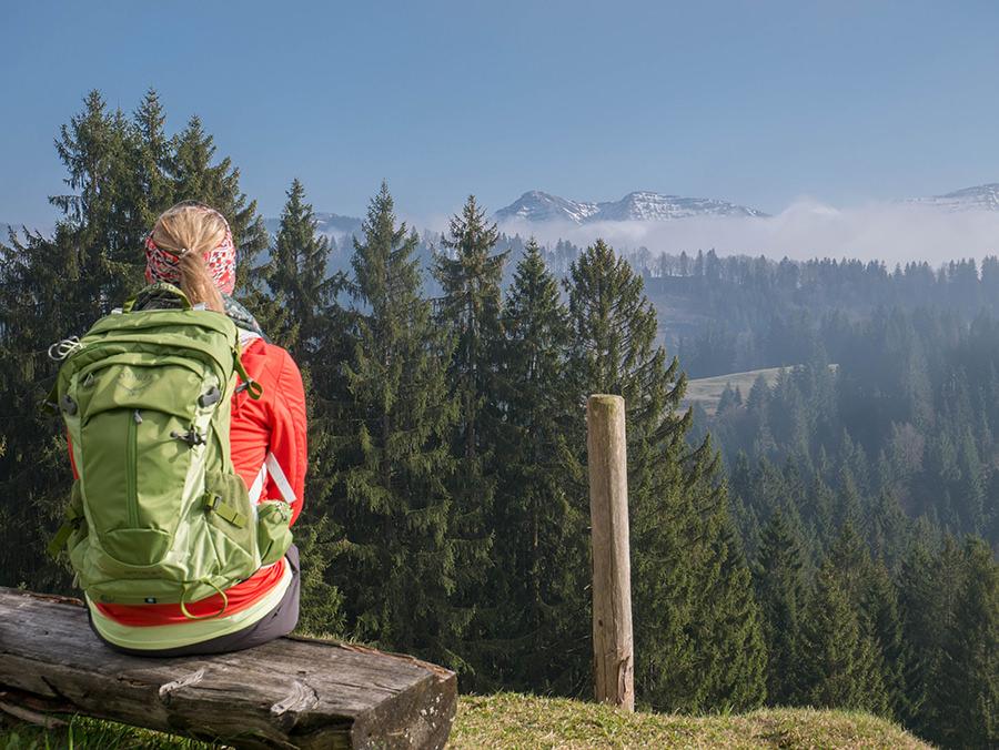 Wandern in Oberstaufen - Wanderung Kalzhofener Hoehe - Wanderrucksack Sirrus 24 Osprey