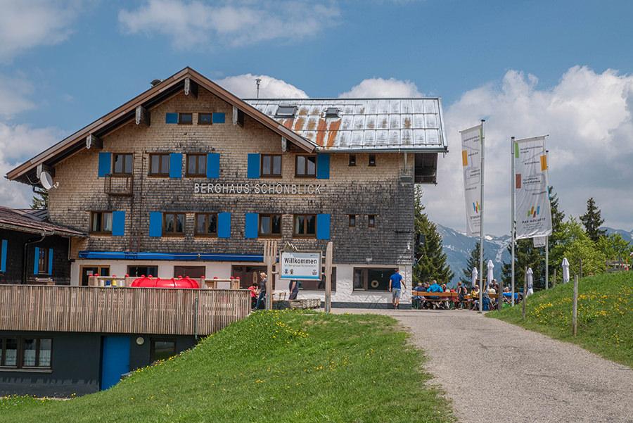 Wanderung Soellereck bei Oberstdorf - Berhaus Schoenblick