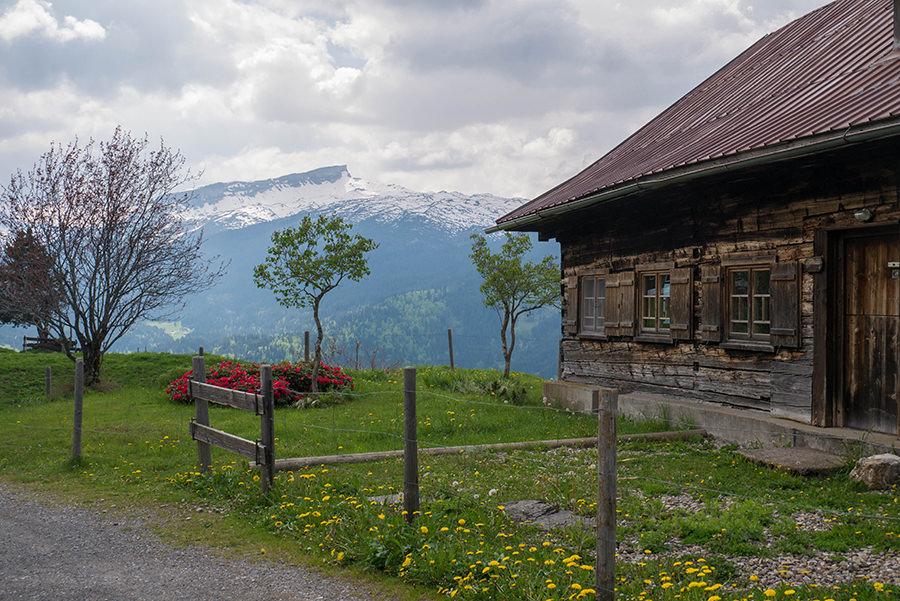 Wanderung Soellereck bei Oberstorf - Huette Mittelalp