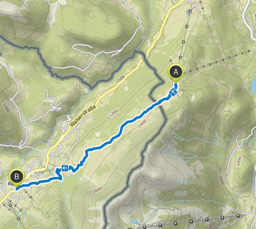 Wanderung Soellereck bei Oberstdorf - Route