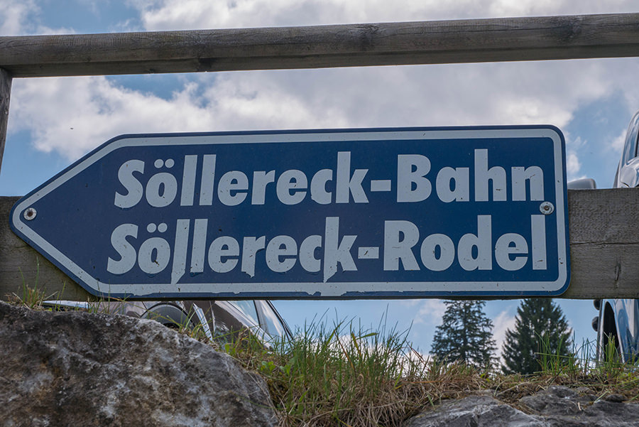 Wanderung Soellereck bei Oberstdorf - Soellereck-Bahn