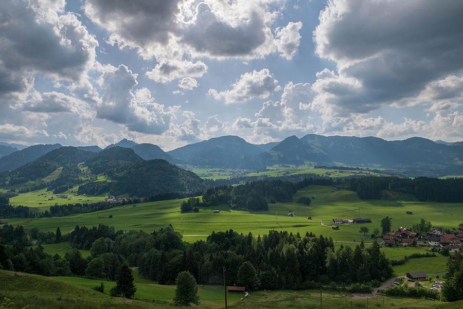 Wandern im Tobel bei Oberstdorf - Aussicht Rueckweg